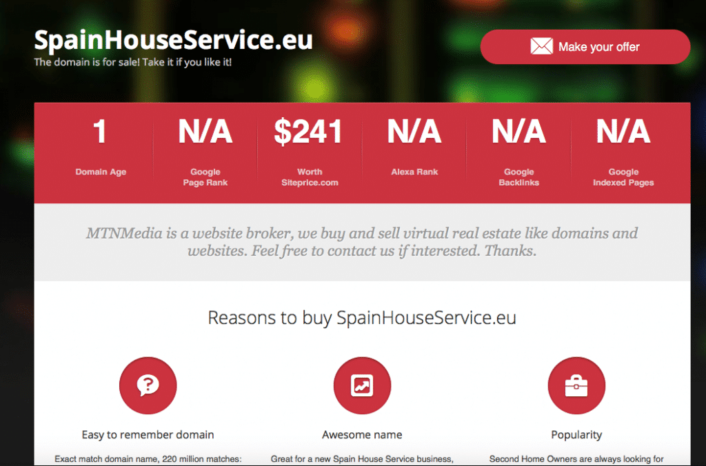 spain house service