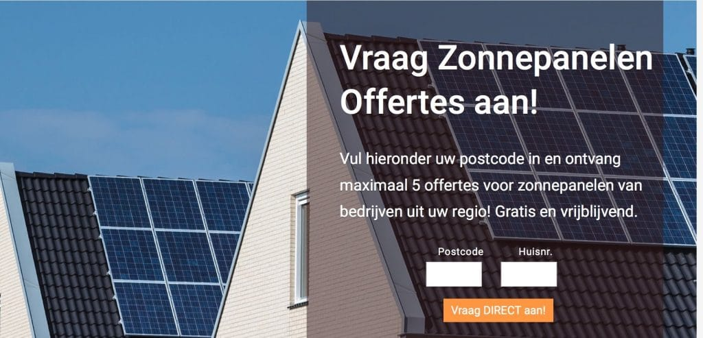zonnepanelen offerte